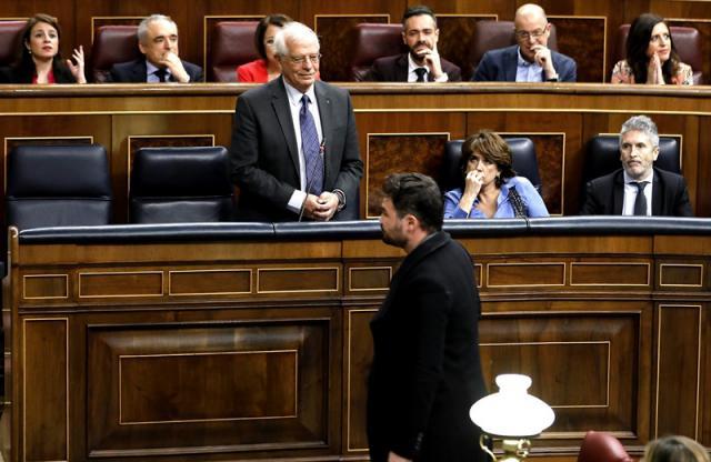 """Page califica de """"indecencia para un país democrático"""" la actitud de Gabriel Rufián en el Congreso (VÍDEO)"""