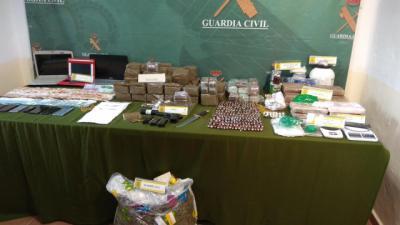 Caen dos grupos criminales dedicados a la venta droga en Ciudad Real, Toledo y Madrid