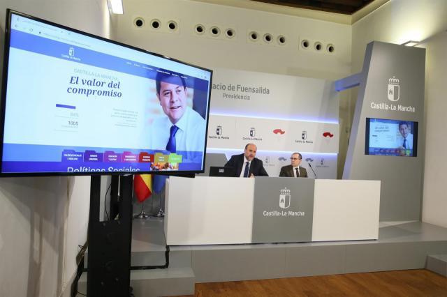 CLM pone en marcha un Portal de Compromisos para rendir cuentas de su acción de gobierno