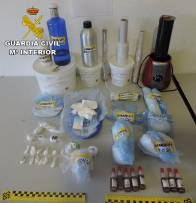 13 detenidos y más de dos kilos de cocaína intervenida en Valdepeñas