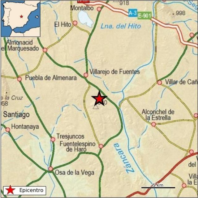 Terremoto de magnitud 2,5 a pocos kilómetros del emplazamiento del ATC en CLM