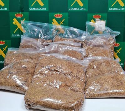 Intervienen en Mérida 10 kilos de picadura de tabaco destinados a venta clandestina procedentes de Toledo