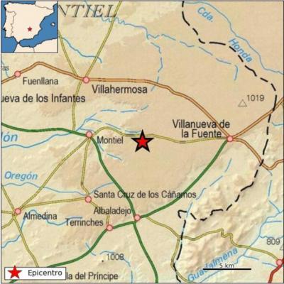 Registrado un terremoto de 2,8 grados en Montiel