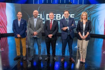 Así ha sido el primer debate electoral televisado de Castilla-La Mancha
