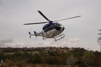 Rescatan al piloto de un helicóptero tras sufrir accidente en Albarracín