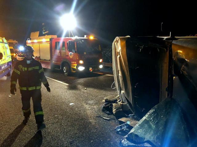 Nueve temporeros heridos en un acccidente de tráfico