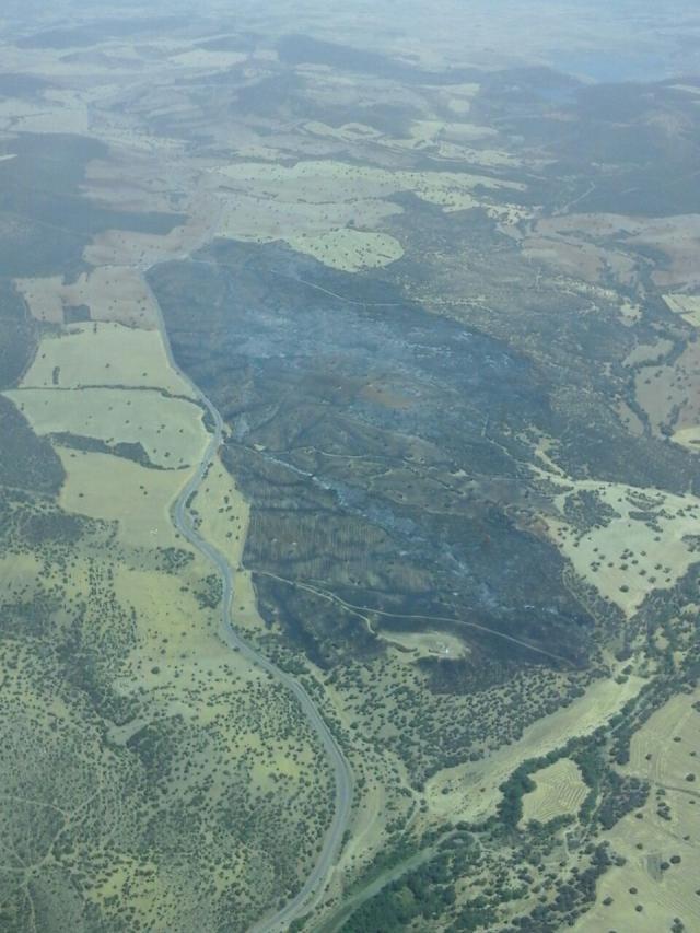 Controlado el incendio declarado en Viso del Marqués