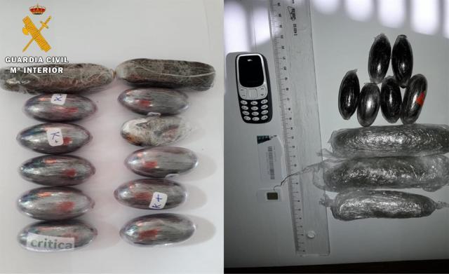 Detenido por lanzar desde la calle paquetes con hachís y marihuana a la cárcel de Ocaña
