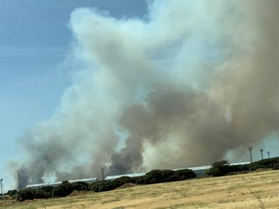 Imagen del incendio forestal