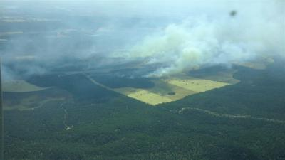 Incendio en Barchín del Hoyo