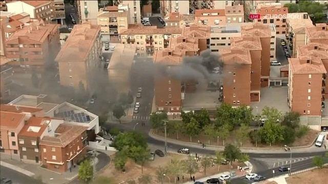 VÍDEO | La alarmante imagen que ha captado en Toledo el helicóptero de La Vuelta