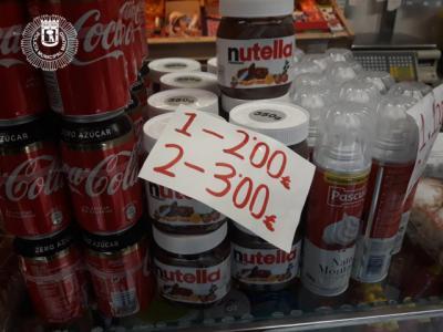 Recuperan en un comercio de Vallecas un lote de Nutella robado en Seseña