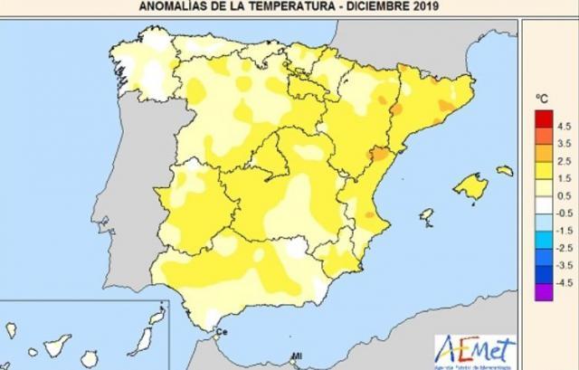 Diciembre fue el tercero más húmedo y cálido del siglo XXI