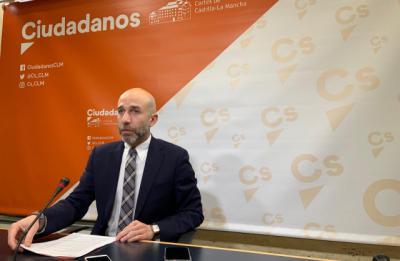 El diputado de Ciudadanos David Muñoz Zapata en rueda de prensa - EUROPA PRESS
