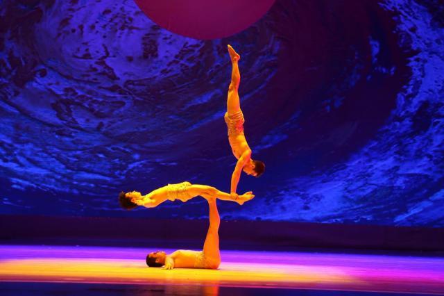 Circo acrobático de China.