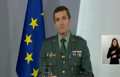 Rueda de prensa del jefe del Estado Mayor de la Guardia Civil, general José Manuel Santiago - MONCLOA