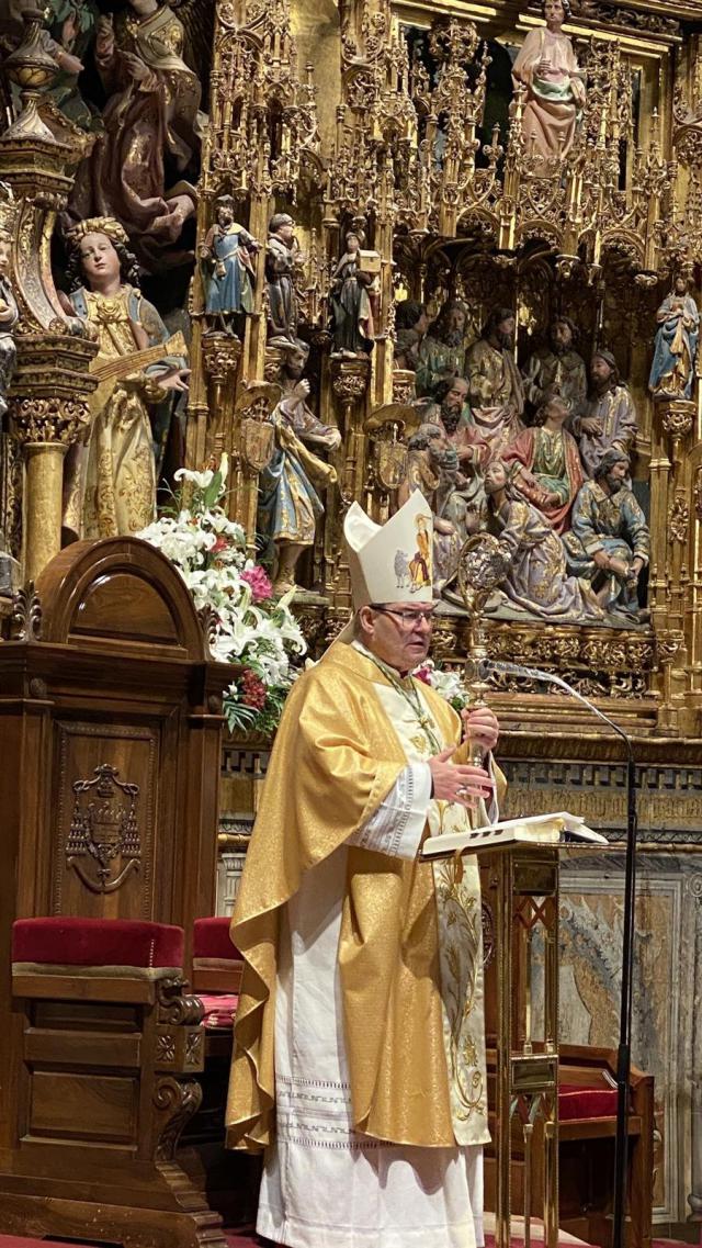 El arzobispo de Toledo, Francisco Cerro Chaves. - Arzobispado de Toledo