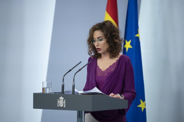 La ministra de Hacienda y portavoz del Gobierno, Maria Jesús Montero - Moncloa