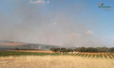 Incendio agrícola declarado en Socuéllamos - PLAN INFOCAM