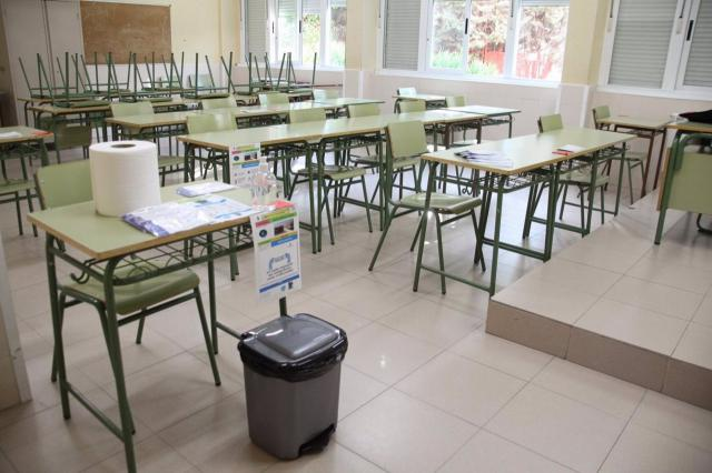 EDUCACIÓN   CLM ha aislado al 1,3% del alumnado por el Covid-19
