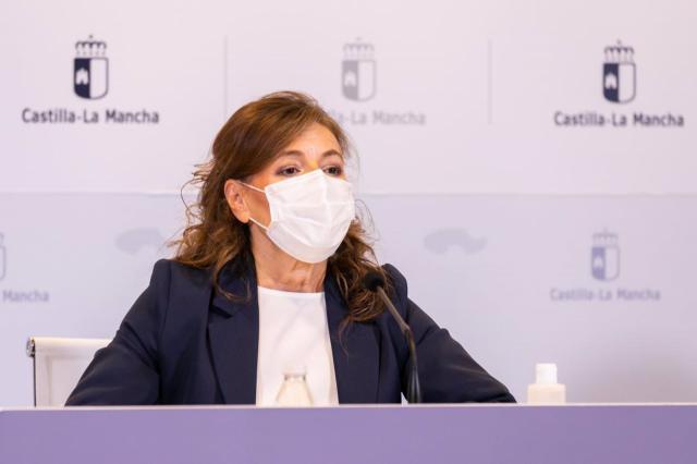 La consejera de Bienestar Social, Aurelia Sánchez, en rueda de prensa. - JCCM