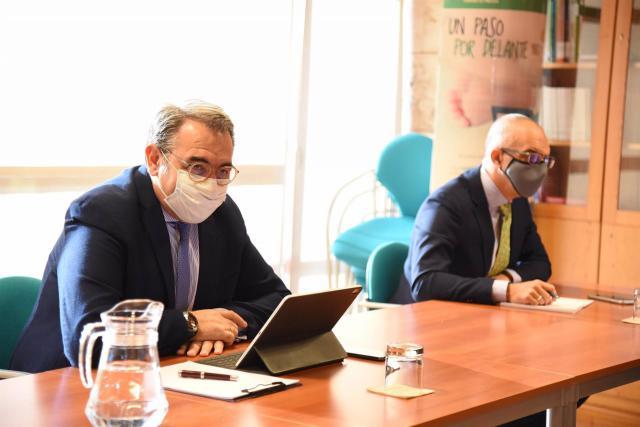 El consejero de Sanidad de C-LM, Jesús Fernández Sanz, en la reunión de la Comisión de Seguimiento de la pandemia - JUNTA CLM