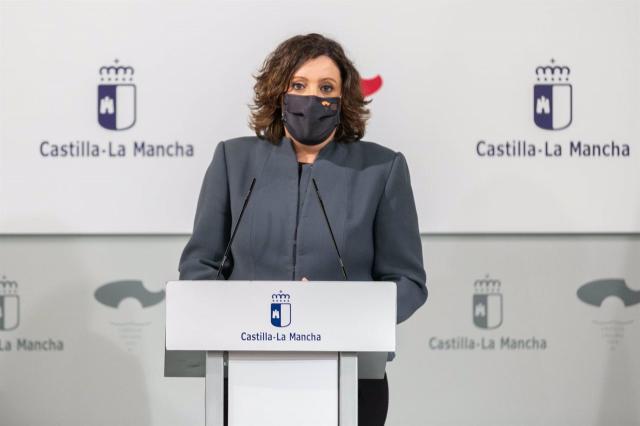La consejera de Economía, Empresas y Empleo, Patricia Franco, en rueda de prensa. - JCCM