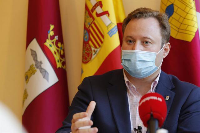 El alcalde de Albacete, Vicente Casañ, en entrevista con Europa Press - EUROPA PRESS / LUIS VIZCAÍNO - Archivo