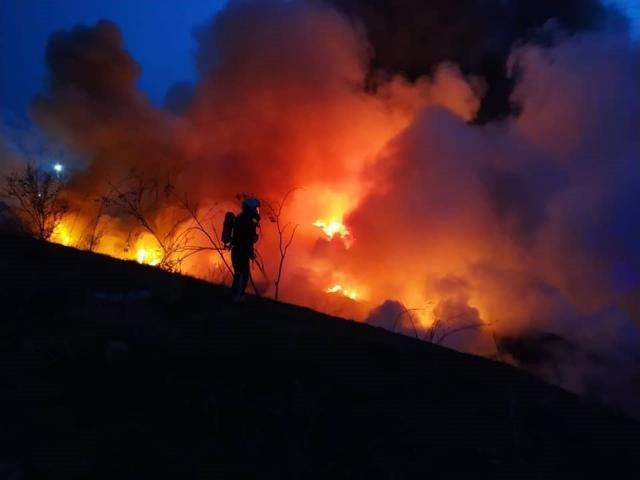 CERRO DE LOS PALOS | El incendio podría haber sido provocado