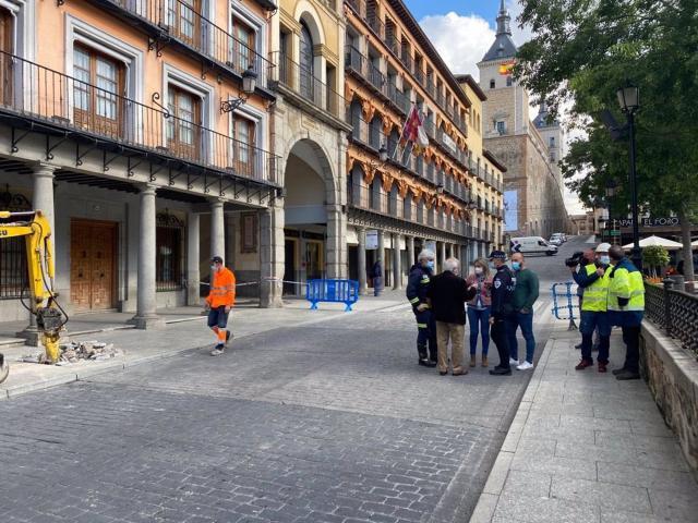 Susto en el Casco Histórico de Toledo tras la rotura de una tubería de gas