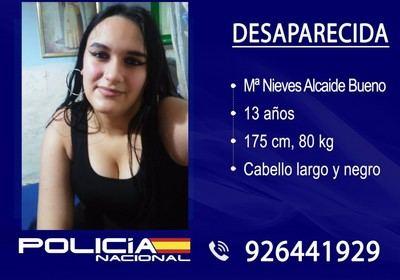 Localizada sana y salva la chica de 13 años desaparecida