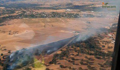 Declarado un incendio en Escalona (Toledo)