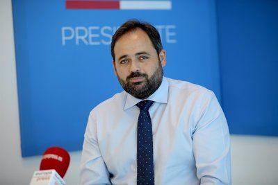 El presidente del PP de Castilla-La Mancha, Paco Núñez, en entrevista con Europa Press