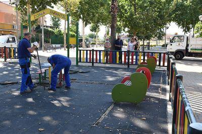 """El barrio de Patrocinio tendrá un parque infantil """"más amplio y más seguro"""""""