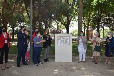 Tita García Élez inaugura el parque 'Joaquín Benito de Lucas'