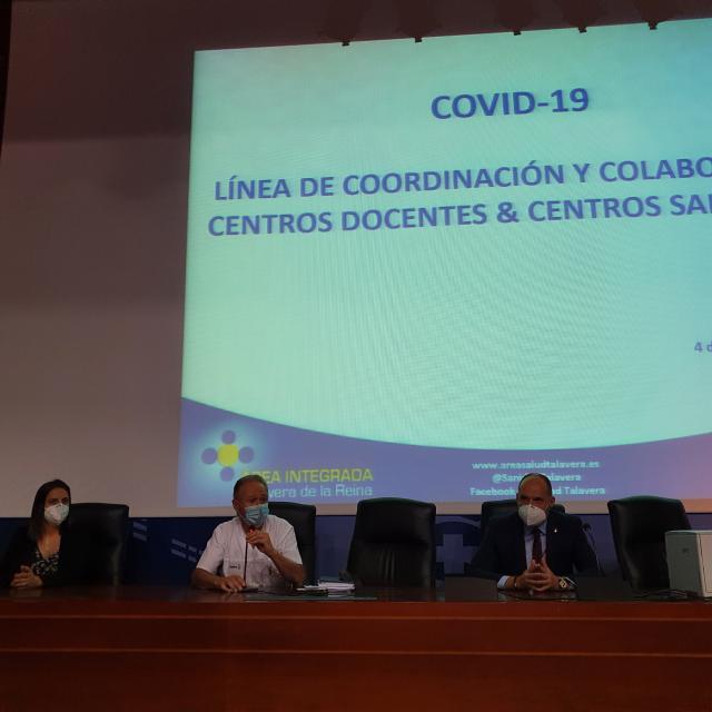 TALAVERA COVID | La Concejala de Ciudad Saludable participa en la jornada de coordinación entre los centros educativos y la Gerencia del Área Integrada de Salud