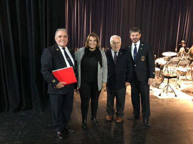 La alcaldesa de Talavera asiste al concierto extraordinario de la Banda de Música con motivo de Santa Cecilia