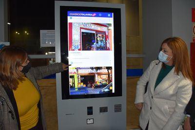 TALAVERA   Comienza a funcionar un tótem informativo y turístico en la Estación de Autobuses