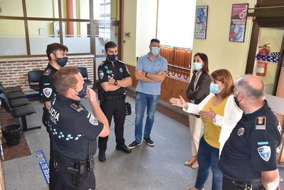 TALAVERA   La alcaldesa pone en valor el trabajo de la Policía Local durante la crisis sanitaria