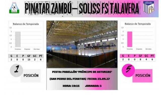 El Soliss FS Talavera afronta su viaje más largo del curso para medirse a Pinatar Zambú