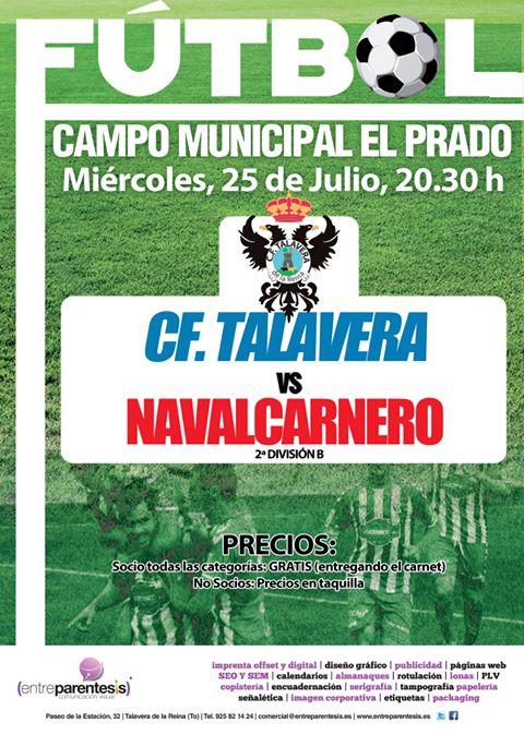 Los socios podrán disfrutar gratis del primer partido de la pretemporada del CF Talavera