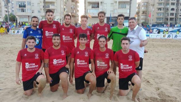 El equipo de fútbol playa de Talavera compite en la Copa de España