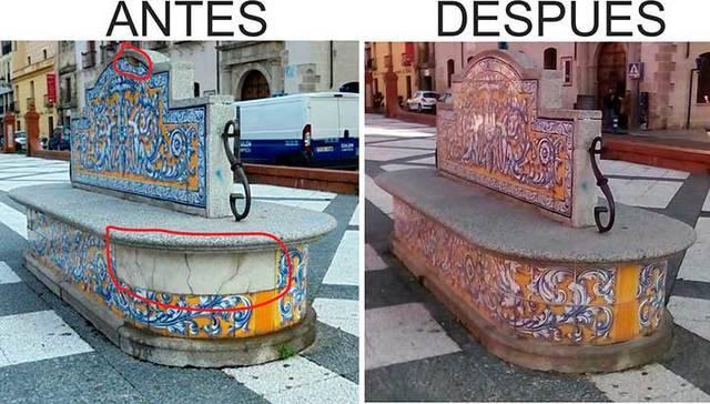 La cerámica talavera vuelve a 'brillar' en la Plaza del Pan