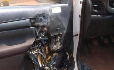 BULO | ¿Has recibido la foto de la explosión de un bote de hidrogel en un coche?