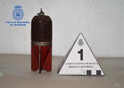 SUCESOS | Encuentran una granada de mortero de la Guerra Civil en el trastero de una vivienda