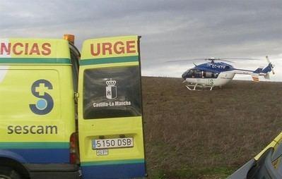 Trasladan en helicóptero a Toledo a un niño de 12 años accidentado en un circuito de karting