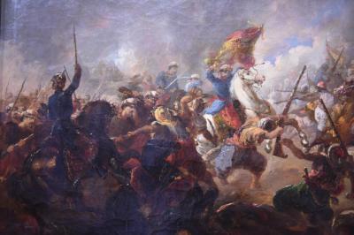 El general Prim en la batalla de Los Castillejos. Mariano Fortuny. Actualmente en el Museo del Ejército en Toledo ME [DO] 5001256.