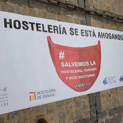 Manifestación de hosteleros en Toledo | Asociación de Hostelería de Toledo - Archivo