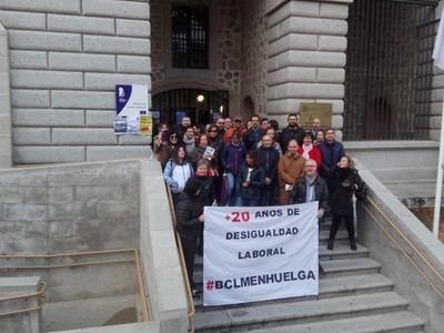 El 100% de trabajadores de la Biblioteca regional secunda en Toledo la segunda jornada de huelga