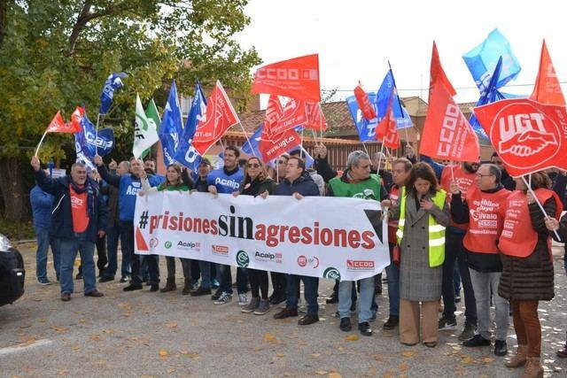 Los funcionarios de prisiones secundan al 100% la primera convocatoria de huelga